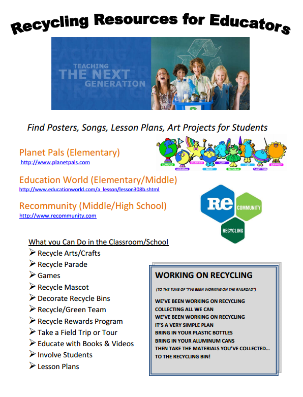 Recycle Resource Flyer